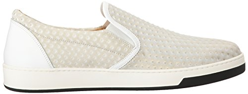 Bugatchi Mens Pompeii Fashion Sneaker Bianco