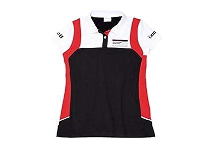 Porsche Damen Polo-Shirt, schwarz/rot/weiß, Gr. L, Motorsport ...