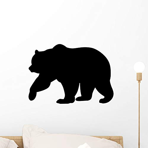 - Wallmonkeys Bear Silhouette Wall Decal Peel and Stick Animal Graphics (18 in H x 18 in W) WM239836