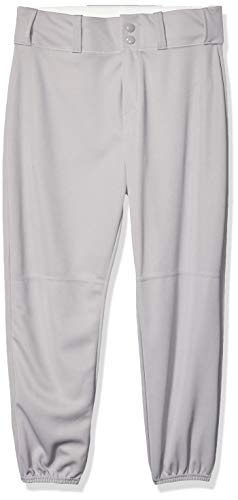 Alleson Ahtletic Boys Youth Elastic Bottom Baseball Pants, Grey, Large ()