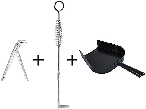 Dracarys Stainless Steel Ash Removal Tool and Ash Pan Big Green Egg Accessories,Ash Tool Poker for BGE Primo and Other Charcoal Kamado Stove at AP GG