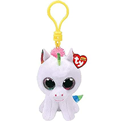 YOUHA Ty Boos Big Eyes Plush Color Blanco Unicornio Llavero ...