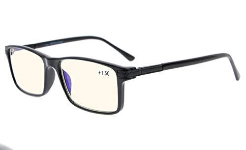 - Eyekepper Bifocal Progressive Multifocus Reading Glasses-TR90 Frame Spring Hinges 3 Levels Vision Readers,Black,+1.50