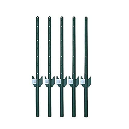 MTB Fence Post Sturdy Duty Fence U Post 3', Pack of 5
