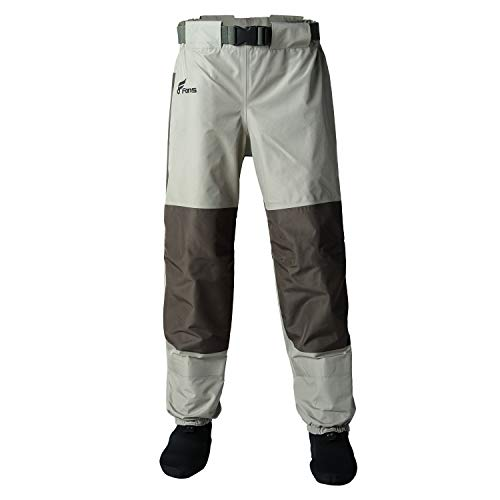 8 Fans Women's Fishing Waist Waders - 3-Ply Durable Breathable and Waterproof with Neoprene Stocking Foot Insulated Waist Waders for Duck Hunting, Fly Fishing, A Mesh Storage Bag Included ()