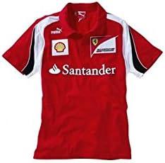 FERRARI Polo niño Escudería F1 2012 Rojo Talla 08: Amazon.es ...
