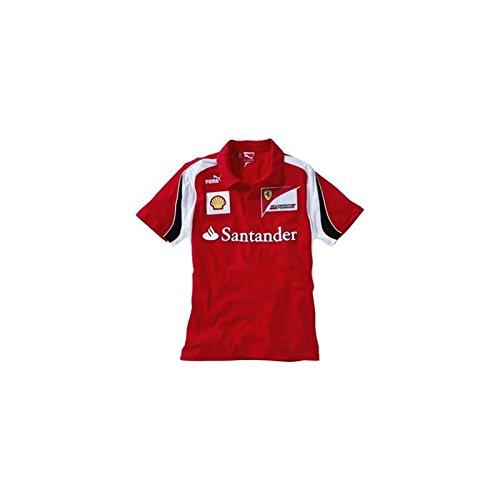 FERRARI Polo niño Escudería F1 2012 Rojo Talla 16: Amazon.es ...