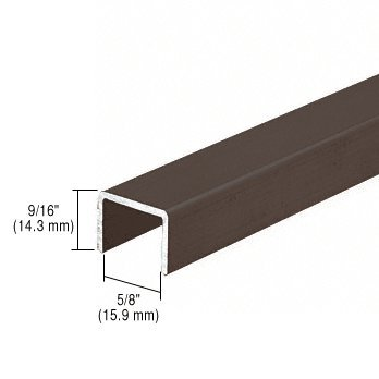 CRL Bronze Series 3601 Side Jamb Channel for Sliding Screen Doors - 12 ft long by C.R. Laurence