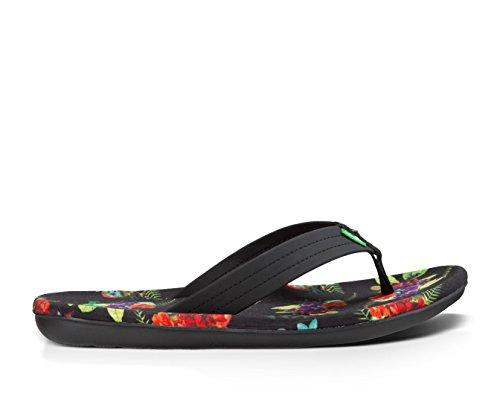 Sanuk Hommes Raboteuse Patriot Sandale Chaussures Noir Amazon Tropique