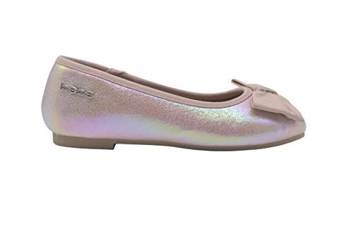 bebe Girls Ballet Flats 13 M US Little Kid Mary Jane Slip On Sandals with Bow Light Pink -