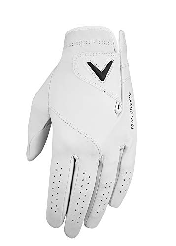 (Callaway Golf Men's Tour Authentic Premium Cabretta Leather Golf Glove, Worn on Left Hand, Large)