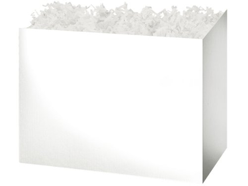 "CLEARANCE - Large 10 1/4""x6""x7.5"" White Basket Boxes for Bak"