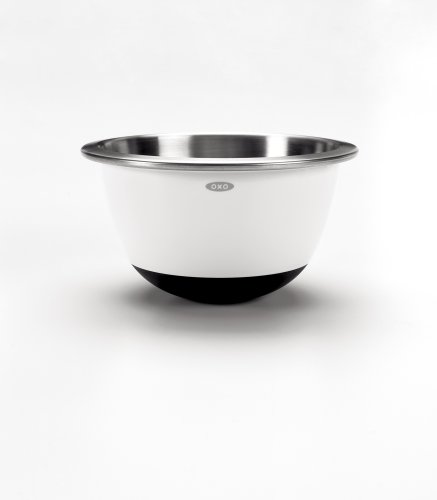 oxo good grips 3 piece stainless steel mixing bowl set white import it all. Black Bedroom Furniture Sets. Home Design Ideas