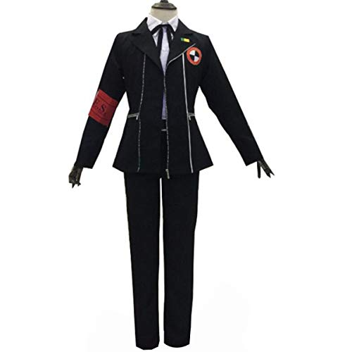 NSOKing Persona 3 Minato Arisato Cosplay Costume Halloween Uniform Outfit (Small, Black Mens Suit)