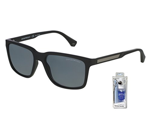 Emporio Armani EA4047 506381 Black Rubber Polarized Grey Bundle-2 Items -  Buy Online in Oman.  5ae8c86aff