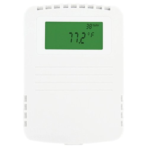 Dwyer Wall Mount Humidity/Temperature/Dew Point Transmitter, RHP-2W11-LCD, 2% Accuracy, 4-20 mA