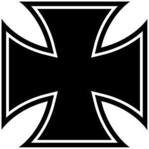 Eisernes Kreuz Aufkleber Sticker Iron Cross 5cm Bike Motorrad Auto Autoaufkleber Sticker Schwarz