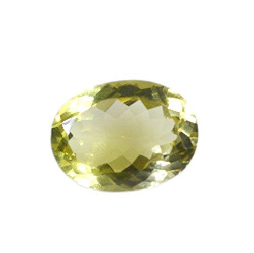 quartz lemon pierres précieuses en vrac 1 pièces 15 x 20 mm ovale pierres précieuses facettes jaune