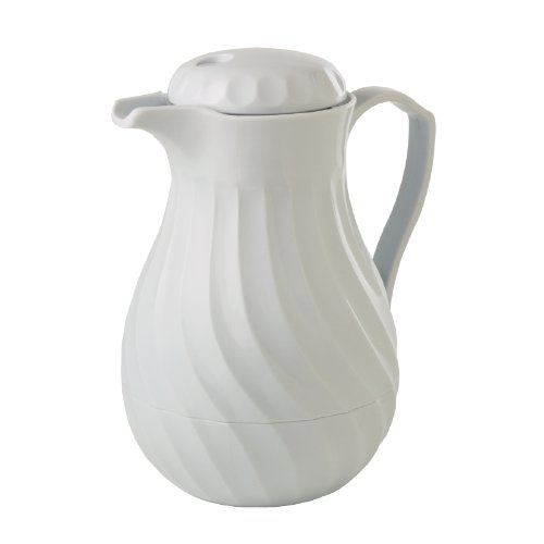 Kinox White Unbreakable plastic liner Insulated Coffee Jug 1.8Ltr/ 64oz capacity.