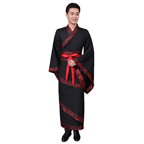 Hanfu Traditional F Costume Dynasty Ez black Ancient Robe Men's Chinese Han sofei Cosplay Boys 0xw8qfRg