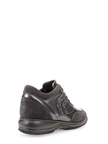 Geox D Happy a, Zapatillas Para Mujer Antracite