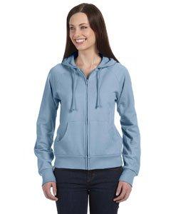 Bella Hooded Pullover (Bella Ladies Full zip Raglan hooded Pullover - Baby Blue - X-Large)