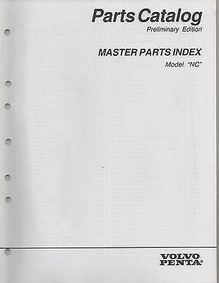 1996 VOLVO PENTA STERN DRIVE MASTER PARTS INDEX P/N 7797150-5 PARTS MANUAL(708)