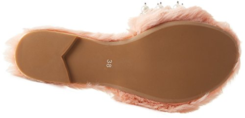 Jeffrey Campbell Women's 11-Facil-Bp Fake Fur Open Toe Sandals Pink (Light Pink 001) WCGWi