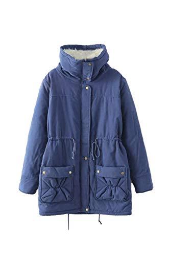 chaud manteau bleu doublé Vepodrau coton rembourré manteaux femmes Realecolor de manteau fourrure d'hiver PEnwxXq1