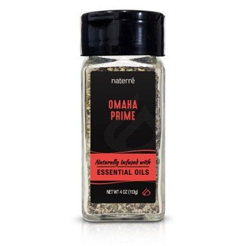 Lemon Pepper Steak (Naterre Omaha Prime Spice Blend 4 oz - Delicious Blend of Natural Organic Spices and Essential Oils - BBQ, Fry, Smoke, Steaks, Poultry, Fish, Vegetables)