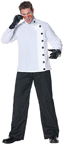 Mad Scientist Plus Size Costumes (UHC Men's Mad Scientist Smock Style Shirt Funny Theme Halloween Fancy Costume, OS (42-46))