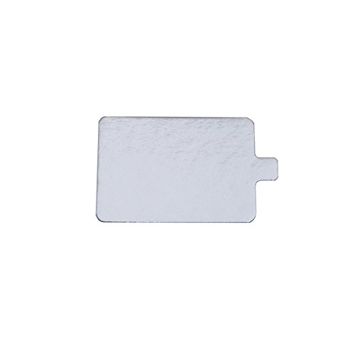- Rectangular Silver Mono-Portion Pastry Board with Tab (25, 2.75