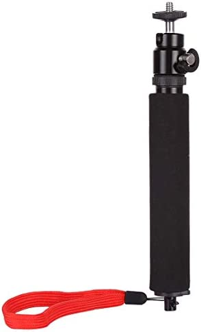 Compact Cameras with 1//4 Threaded Hole JINGZ Universal 360 Degree Selfie Stick with Red Rope for Gopro Cellphone Length: 210mm-525mm Durable