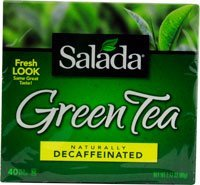 Salada Green Tea Naturally Decaffeinated -- 40 Tea Bags