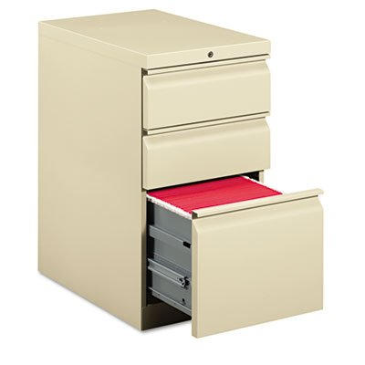 HON Efficiencies Mobile Pedestal File - Storage Pedestal with 1 File and 2 Box Drawers 22-7/8-Inch, Putty (H33723R) ()