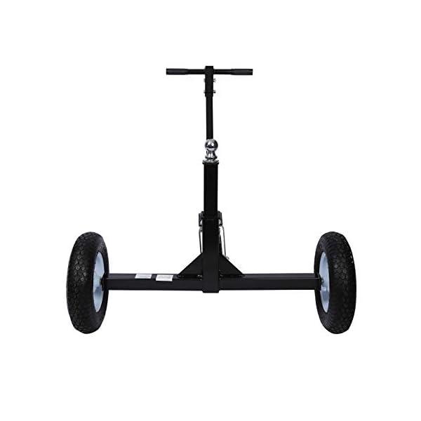 31fYESa0wgL Rangierhilfe für Anhänger & Wohnwagen, 3 Räder, bis 453,6 kg, höhenverstellbare Kupplungskugel