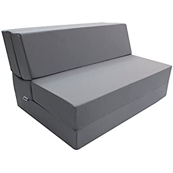 Amazon Com Dark Gray Foam Seat Mattress Sleeper Chair
