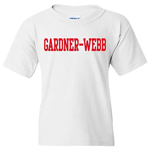 YS01 - Gardner-Webb Bulldogs Basic Block Youth T-Shirt - Small - White