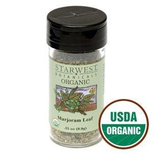 Organic Marjoram Leaf Jar 0.43 Oz - Starwest Botanicals