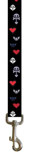 Perris Leathers Officially Licensed Polyester Leash with Hi-res Imaging, Skulls with Bones and Wings, 6-Feet, My Pet Supplies