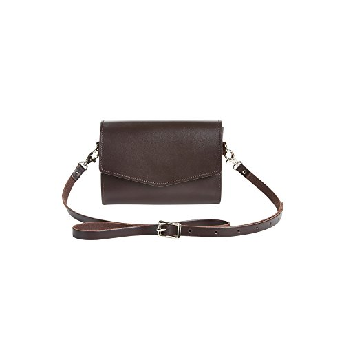 Zatchels - Borsetta Tipo Clutch in Pelle Fatta a Mano - Classico - Donna oxblood red