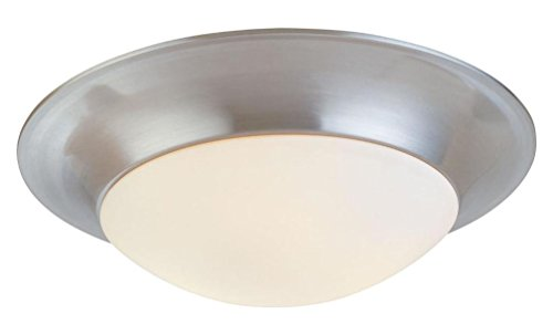 Three Light Nickel Bowl Flush Mount - Sonneman Trumpet