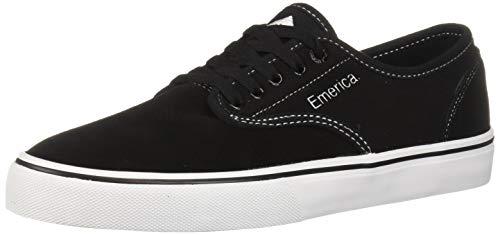 (Emerica Men's Wino Standard Skate Shoe, Black/White/White, 9 Medium US)