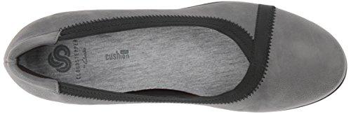 Caddell nobuk Women's piel gris Wedge Dash sintética Clarks Pump wxF5qTnq4