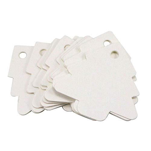 iZasky Kraft Paper Tags Tree Shaped Label Luggage Wedding Note Blank Price Hang Tag Wedding Card 100pcs/lot (White)