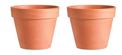 2 Pack  35quot Terra Cotta Clay Pots