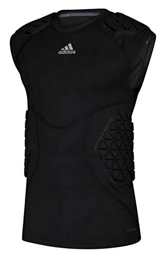 Adidas Men's Football Alphaskin Force 5 Padded Tee Tank Top Protection (Black S)
