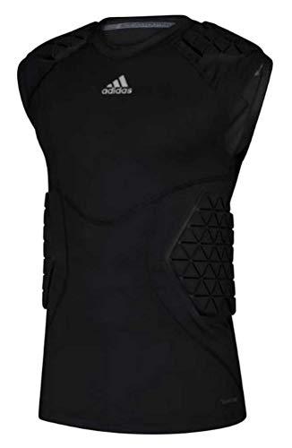 Adidas Men's Football Alphaskin Force 5 Padded Tee Tank Top Protection (Black S) (Adidas Football Shirt)