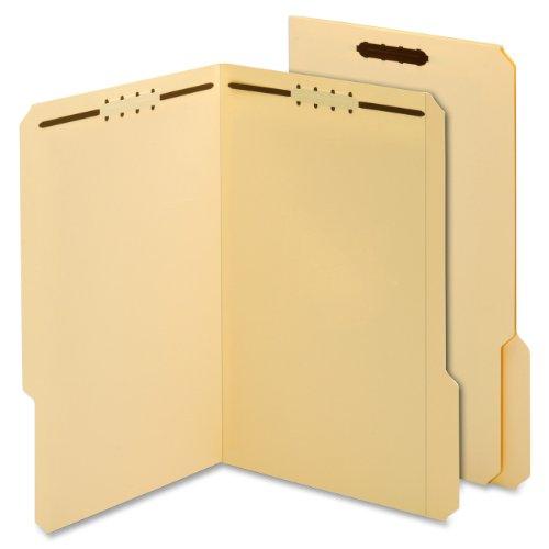 Globe-Weis/Pendaflex Manila Fastener Folders, 11 Point, 2 Fasteners, Legal Size, 1/3 Cut Tabs, 50-Count (29537)