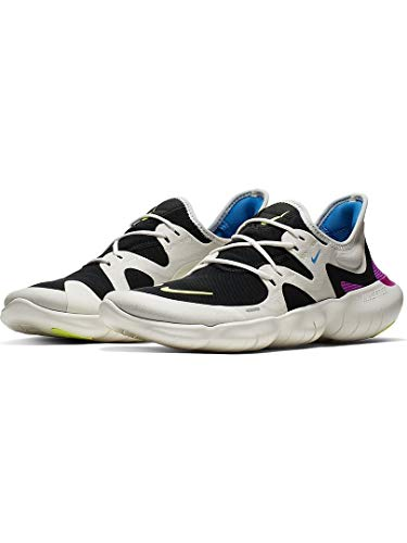 Nike Men's Free RN 5.0 Running Shoes (7.5, White/Volt) by Nike (Image #2)